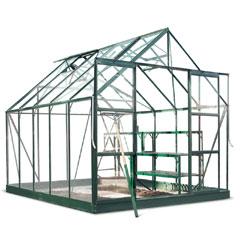 Halls Magnum Green Frame Greenhouse Horticultural Glass