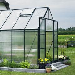 Halls Magnum Green Frame Greenhouse 6mm Polycarbonate