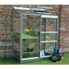 Halls Wall Garden Aluminium Frame 2 x 4ft - Horticultural Glass