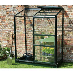 Halls Wall Garden Green Frame 2 x 4ft - Long Pane Toughened Glass