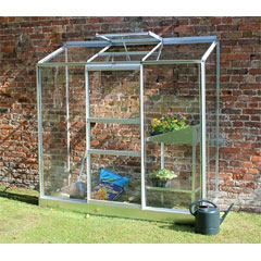 Halls Wall Garden Aluminium Frame 2 x 6ft - Long Pane Toughened Glass