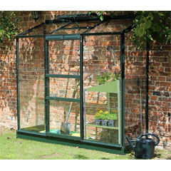 Halls Wall Garden Green Frame 2 x 6ft - Long Pane Toughened Glass