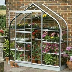 Halls Supreme Wall Garden Aluminium Frame 2 x 6ft - Horticultural Glass
