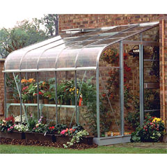 Halls Silverline Lean-To Aluminium Frame Greenhouse Long Pane Toughened Glass