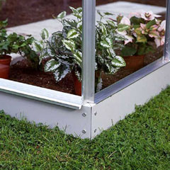 Halls Silverline Lean-To White Greenhouse Base