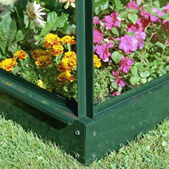 Halls Silverline Lean-To Green Greenhouse Base