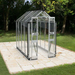 Eden Birdlip Zero Threshold Aluminium Frame Greenhouse - Long Pane Toughened Glass