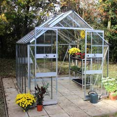 Eden Blockley Zero Threshold Aluminium Frame Greenhouse - Long Pane Toughened Glass