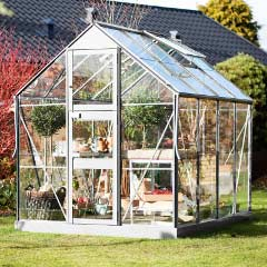 Eden Acorn Stable Door Aluminium Frame Greenhouse - Long Pane Toughened Glass