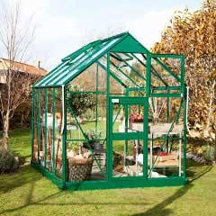Eden Acorn Stable Door Green Frame Greenhouse - Horticultural Glass
