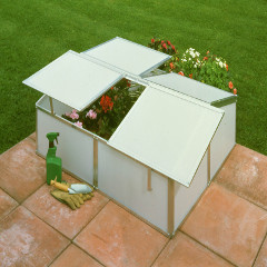 Eden Aluminium Cold Frame 4 x 3ft - Double- Polypropylene Double