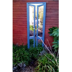 Parallax French Doors Garden Mirror