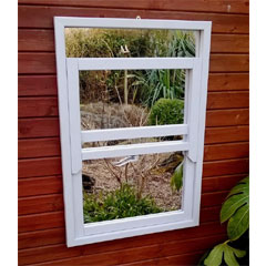 Parallax Sash Window Garden Mirror