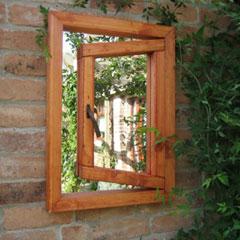 Parallax Ajar Window Garden Mirror