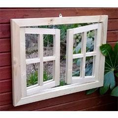 Parallax Double Door Garden Mirror