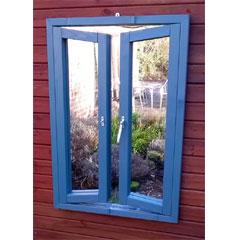 Parallax French Window Garden Mirror