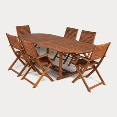 Ellister queensferry 6 person oval extending set 230cm on sale for Furniture queensferry