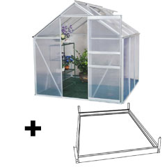 Terra Aluminium Greenhouse and Base - 6 x 6ft
