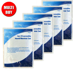 Disposable Hand Warmer Set x 5 Multi-Buy