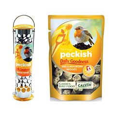 Peckish Wild Bird Daily Goodness Feeder and Nuggets 1kg