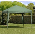 Camelot Easy Up Gazebo Olive with 2 FREE Curtains