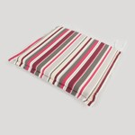 Greenfingers Square Seat Cushion in Candy Stripes