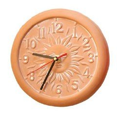 Terracotta Garden Clock On Sale Fast Delivery