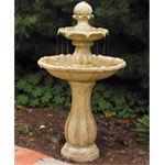 Bermuda Solar Tiered Fountain Water Feature