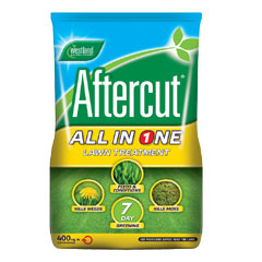 Westland Aftercut All-In-One Lawn Feed Weed & Moss Killer 400m²