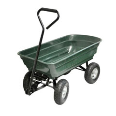Kingfisher 4 Wheel Tipping Action Garden Cart - 75Ltr
