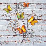 La Hacienda Butterflies & Flowers Metal Wall Art
