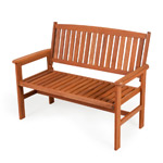 FSC Hardwood Garden Patio Bench - 2 Seater
