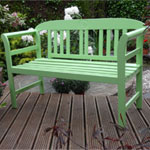 Rondeau Leisure Kent Green PU Painted Bench 120cm