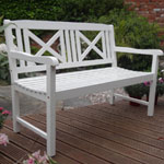 Rondeau Leisure Hardwood Vienna PU Painted Bench