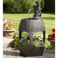 Greenhurst Barrel Water Feature and Planter