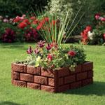 Greenhurst Brick Effect Garden Border - 4 Pack