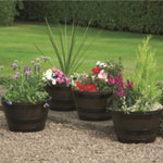 Greenhurst Half Barrel Planters - 4 Pack