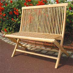 Rondeau Leisure Teak 100cm Folding Bench