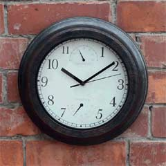 Briers Bronze Effect Clock and Weather Station