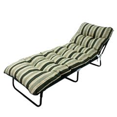 Greenfingers Tubular Padded Sunbed - Milan Stripe