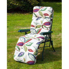 Ellister Premium Padded Relaxer Chair - Leaf