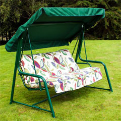 Greenfingers Premium 3 Seater Padded Swing Seat Hammock - Leaf