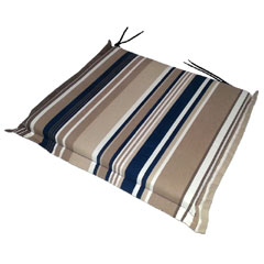 Greenfingers Square Seat Cushion 2 Pack - Blue Stripe 38 x 40cm