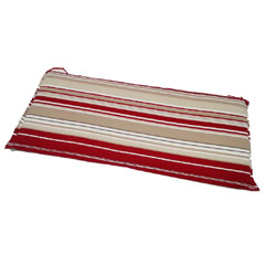 Greenfingers 3 Seater Bench Cushion - Red Stripe 140cm