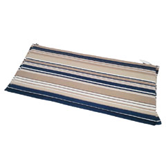 Greenfingers 3 Seater Bench Cushion - Blue Stripe 140cm