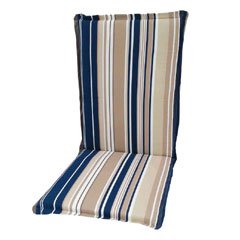 Greenfingers Relaxer Cushion - Blue Stripe 118 x 48cm