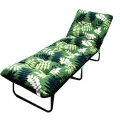 Greenfingers Tubular Padded Sunbed - Leaf Design
