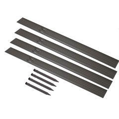 Rite Edge Aluminium Lawn Edging with Fixing Stakes - Brown 4.8 Metres