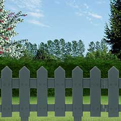 Terra Picket Fence Garden Edging 1.62m