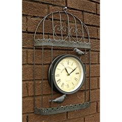 Bird Cage with Garden Clock - 35cm
